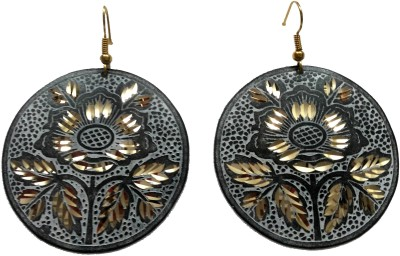 Priyangi Fashion Era Floral Brass Dangle Earring
