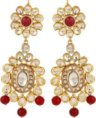 Dilan Jewels Kundan Danglings Beads Alloy Dangle Earring