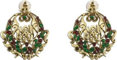 The Fine World Bali Style Zircon Metal Chandbali Earring