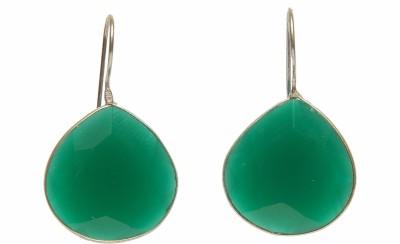STUDIOB40 Tear drop Green faceted stone earrings Alloy Drop Earring
