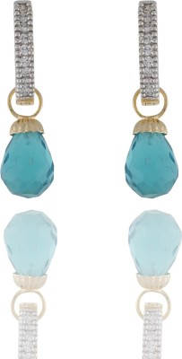 Chaahat Fashion Jewellery New Designed Cubic Zirconia Copper Drop Earring
