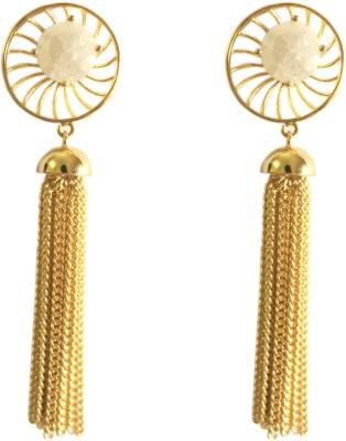 Adrisya Adrisya Social Circles Alloy Tassel Earring