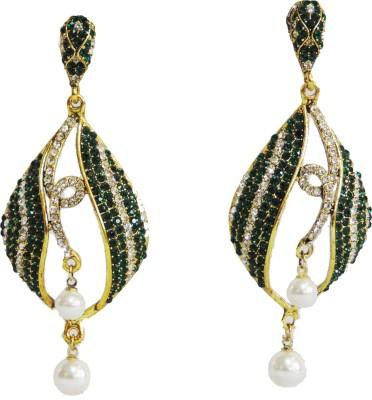Traditsiya Twin Pearl Alloy Chandelier Earring