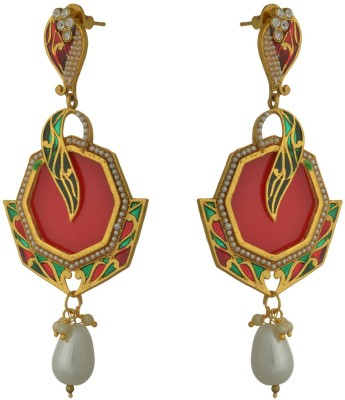Sixmeter Sixmeter Jewels Red Copper Dangle & Drop Earrings For Women (Mj-Er-310) Alloy Earring Set