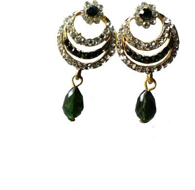 modifier green alloy Crystal Alloy Drop Earring