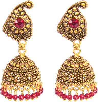 Triumphin Shankh Copper Jhumki Earring