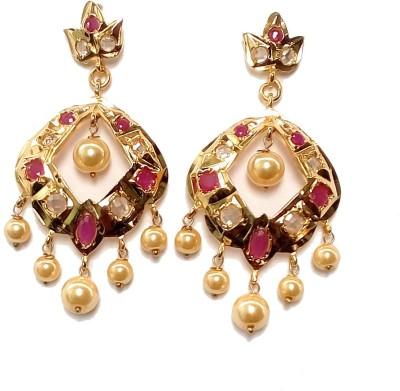High Fashion Royal Metal Drop Earring