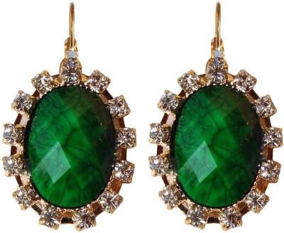 Shreya Collection Spring Sparkle-Green Alloy Drop Earring