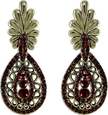 The Fine World Victorian Design Exclusive Zircon Metal Drop Earring