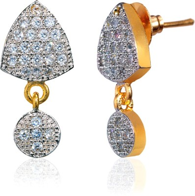 Fashion Fusion ES006501A Aaleeyah Cubic Zirconia Brass, Alloy Drop Earring