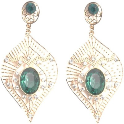 Divine Collection Fashion Jewelry White Metal Drop Earring