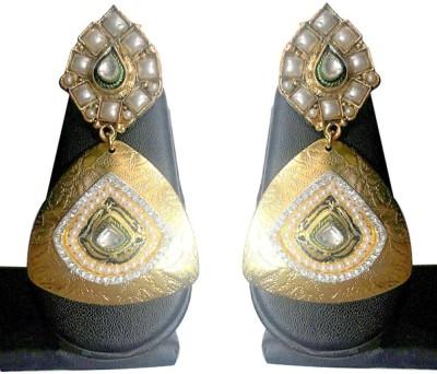 GlamMore09 TRIANGLE TWILIGHT Copper Drop Earring