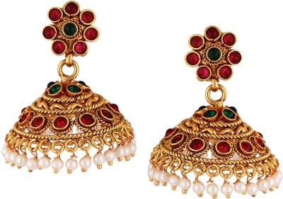 Varaagk Spring Sparkle Brass Jhumki Earring