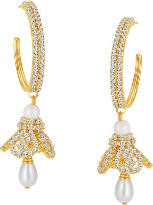 ShoStopper Gold Plated Australian Diamond Alloy Jhumki Earring