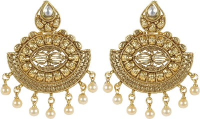 Muchmore Traditional Earring For Women And Girls For Party And Wedding Occasion Crystal, Pearl Alloy Earring Set