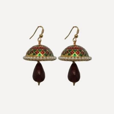 Indianpasand Rajastani colourful with Merron Bead Alloy Dangle Earring