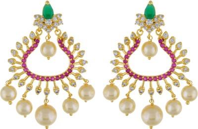 Jewel Planet Ceremony Pearl Alloy Chandbali Earring