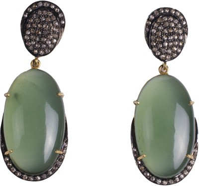 My DT Lifestyle Victorian Style Chalcedony Yellow Gold Drop Earring