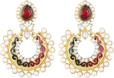 Aanya Creations Exclusive Multicolour Design Lac Chandbali Earring