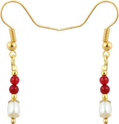 Pearlz Ocean Enchanting Pearl, Jade Alloy Dangle Earring