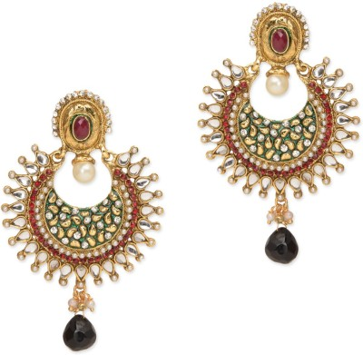 Amroha Crafts Pinch of Pearl Glowing Metal Drop Earring