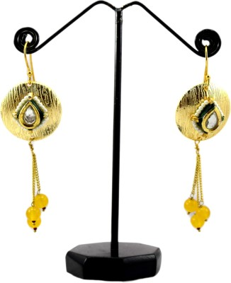 Bharat Sales antique designer with pearls Cubic Zirconia Copper Tassel Earring