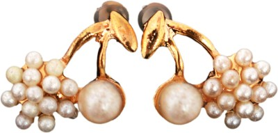 Ak Zopping Collection Alloy Pearl Earring Metal Stud Earring