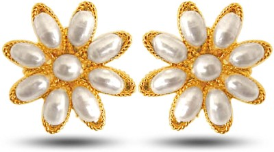 Surat Diamond Star Delight Pearl Metal Stud Earring