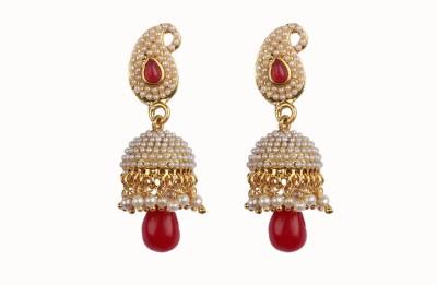 Aashvi Creation Fashion Ruby Alloy Jhumki Earring
