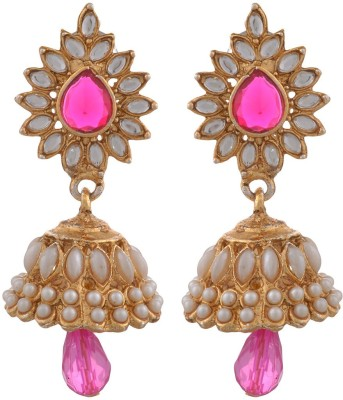 Blacksmith Gracious Gold Crystal Metal Jhumki Earring