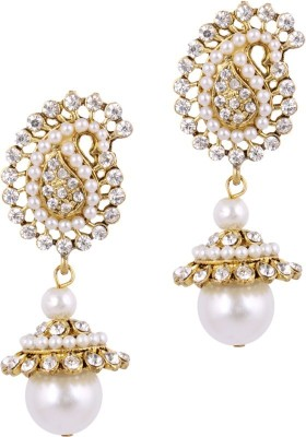 Jewels Guru Diva Style Zircon Alloy Jhumki Earring