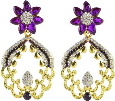 Harini Designer Antique Flower Alloy Drop Earring