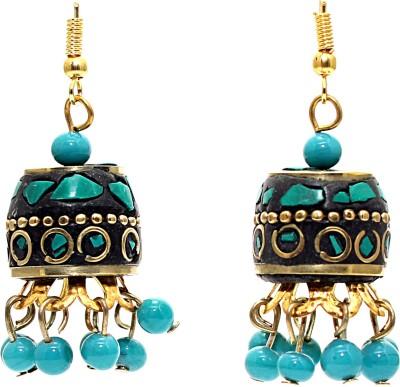 Zidox Colour Spark Brass Jhumki Earring