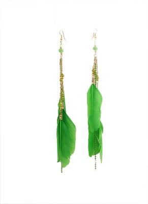 Galz4ever Designer Feather Earring Metal Dangle Earring