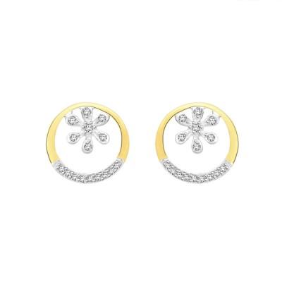 Sparkles T10238D Yellow Gold 18kt Diamond Stud Earring
