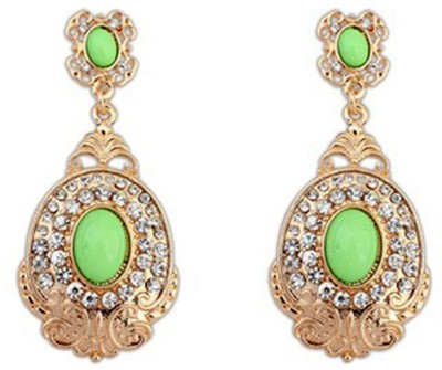 Jewel Touch Turkish Affair Oval Shape Alloy Drop Earring