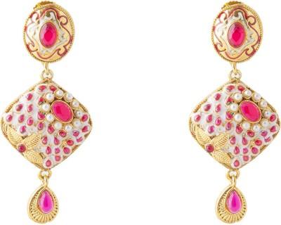 moKanc Designer Polki Crystal Copper Drop Earring