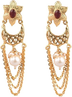 The Kewl Korner ERMR0013 Beads Brass Chandbali Earring