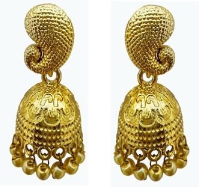 Gurjari mango Brass Jhumki Earring