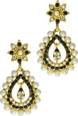 Being Snazzy Classic Desi Pearl Alloy Earring Set