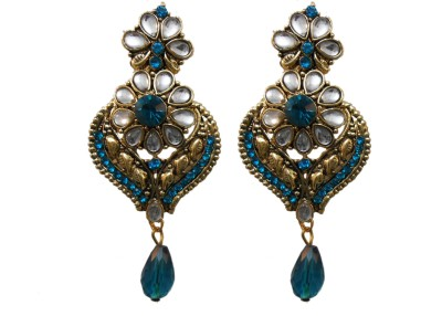 My Design Leaf Shape Alloy Chandbali Earring