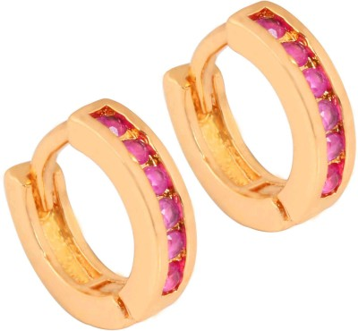 SuperShineJewelry Spring Sparkle Ruby Brass Stud Earring