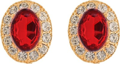 Aahaan golden red earring Alloy Clip-on Earring