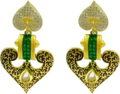 RK Style HEARTFELT LOVE Brass Drop Earring