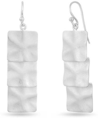 VelvetCase Matt Passion Textured Contemporary Silver Earrings Silver Stud Earring