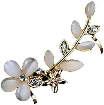 Kundaan Flower & Leaf Crystal Alloy Cuff Earring at flipkart