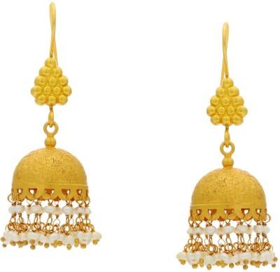 Krishna Pearls & Jewellers Princess Delight Silver Dangle Earring