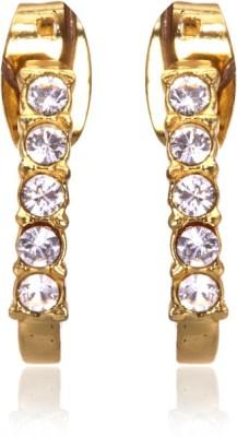 Eclat 1213384G Swarovski Crystal Alloy, Brass Stud Earring