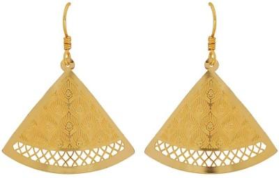 Maayra Dashing Filigree Crystal Brass Dangle Earring