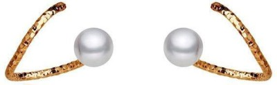 Roma Brothers Snackprl1 Pearl Alloy Stud Earring